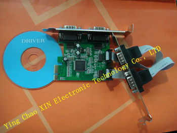 4 Port RS232 COM DB9 Seri Port pcie PCI Express Kart Adaptörü MCS CHIPSET 10 ADET/GRUP