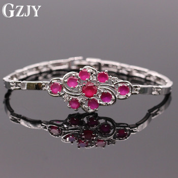 GZJY Fashion Women Gold Color Red AAA Cubic Zirconia Bracelets Bangles For Womne Fashion Party Jewelry 2colors D05-1