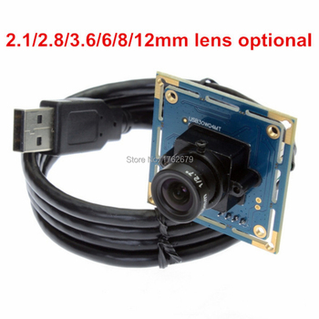 YUY2 ve MJPEG VGA kamera usb webcam CMOS OV7725 640*480 mini usb kamera modülü ile 2.8/3.6/6/8/12mm lens ve 1 m usb tel